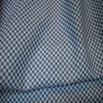 Vichy a petit carreaux blanc bleu