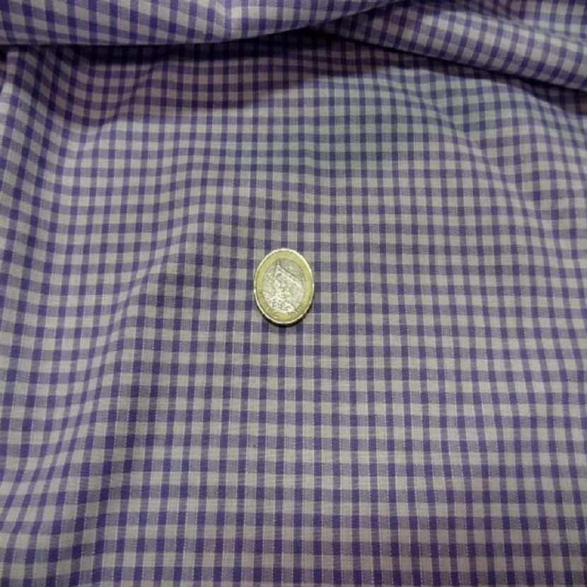 Vichy a petit carreaux blanc lavande02