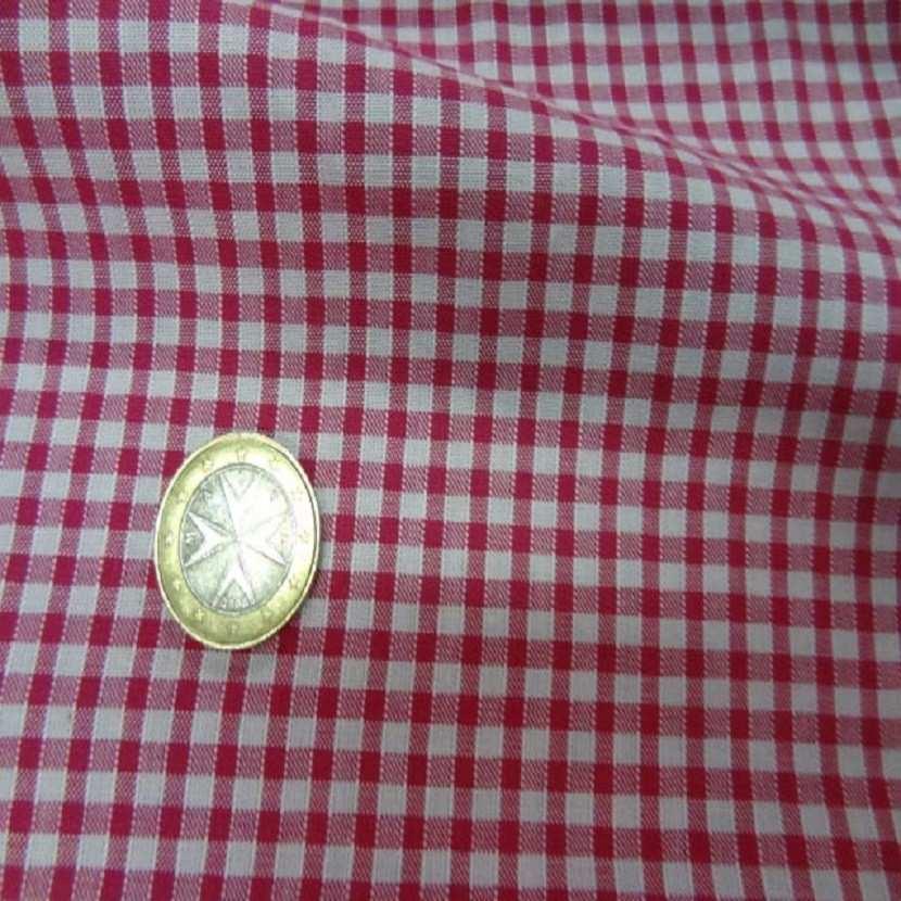 Vichy a petit carreaux blanc rose8