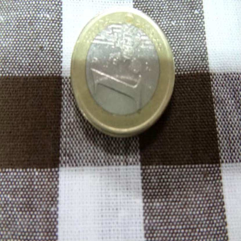 Vichy coton gros carreaux marron blanc3