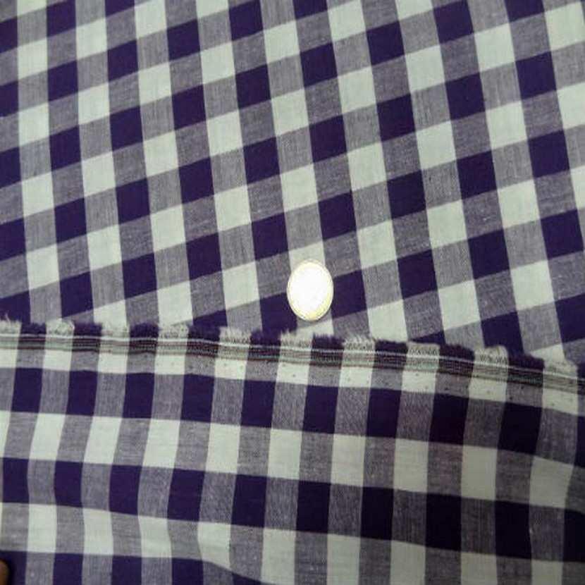 Vichy coton gros carreaux violet blanc4