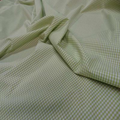 Vichy coton vert blanc