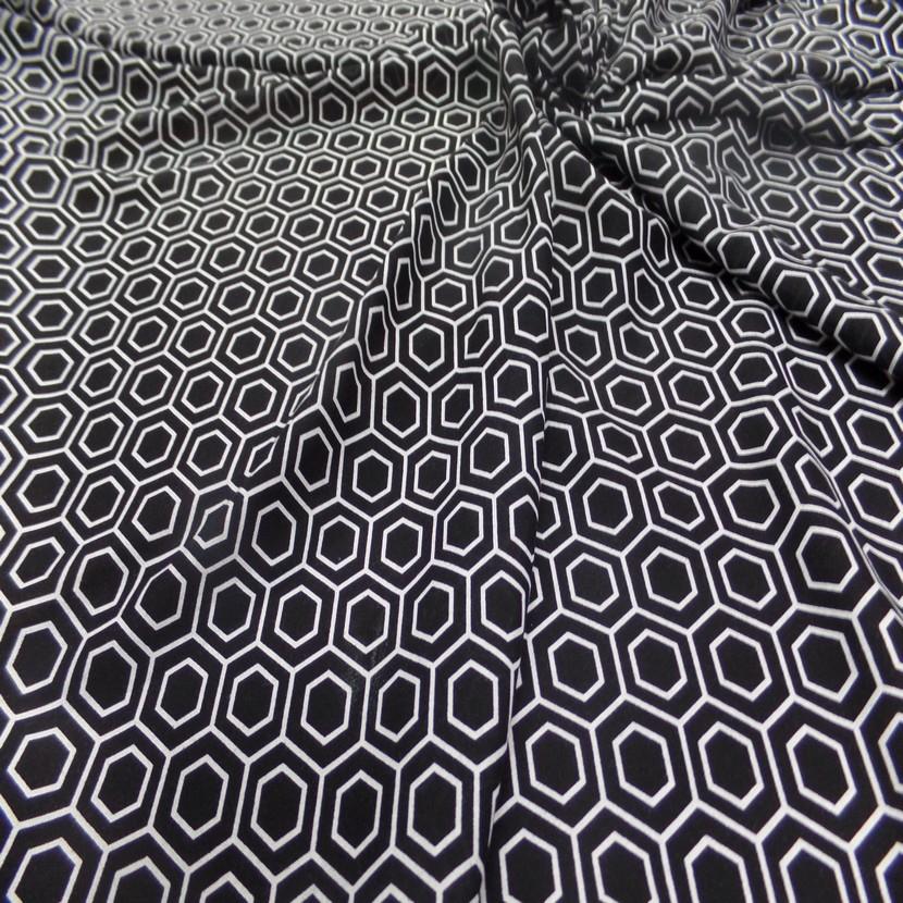 Viscose fine imprime noir et blanc9
