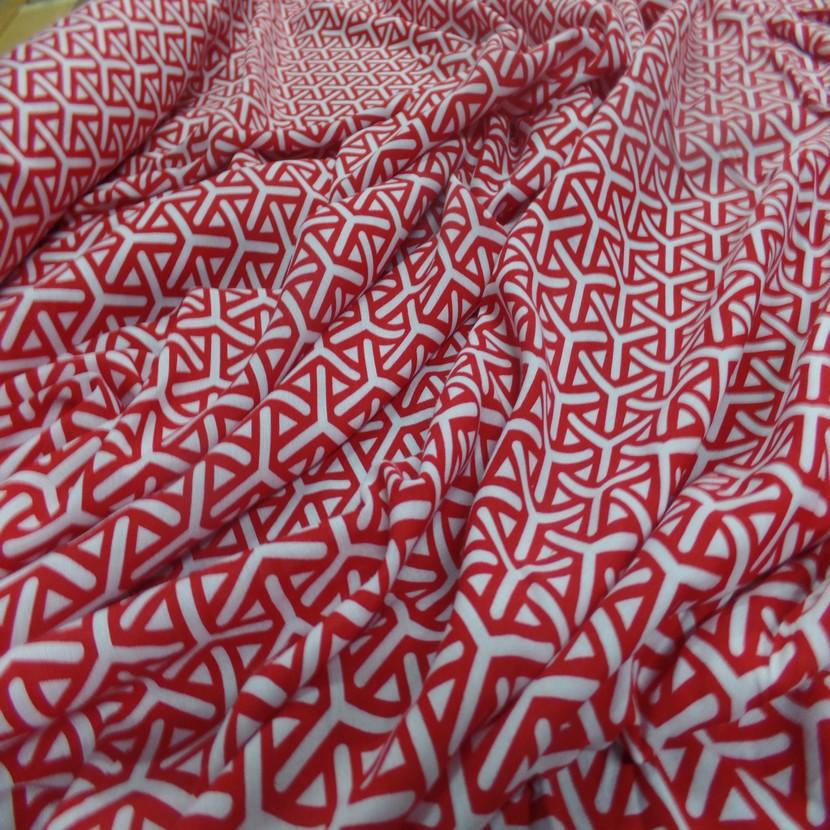 Viscose fine imprime rouge et blanc5