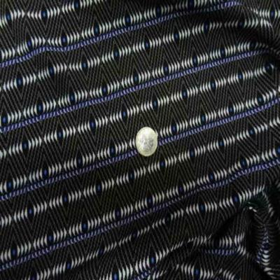 Viscose imprime noir bleu taupe blanc casse