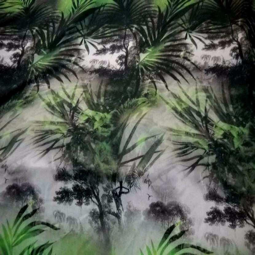 Viscose imprime ton vert blanc et gris en 1 50m l6