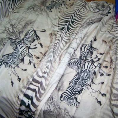 Viscose imprime zebre