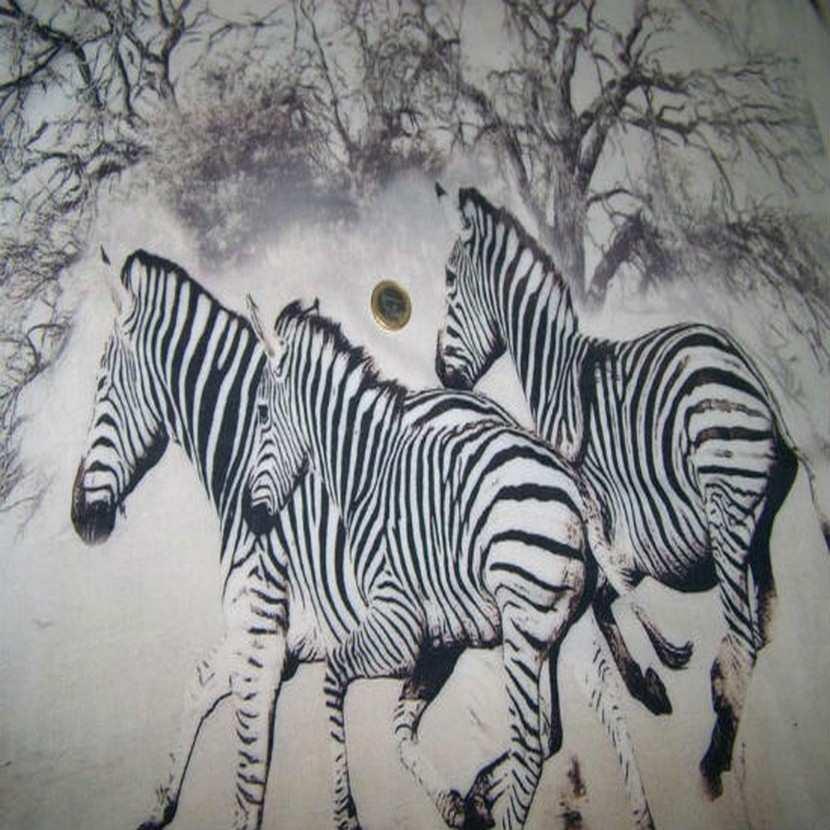 Viscose imprime zebre0
