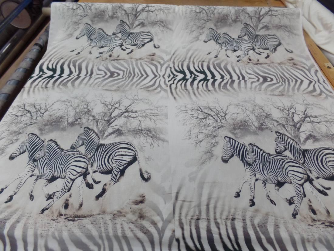 Viscose imprime zebre00