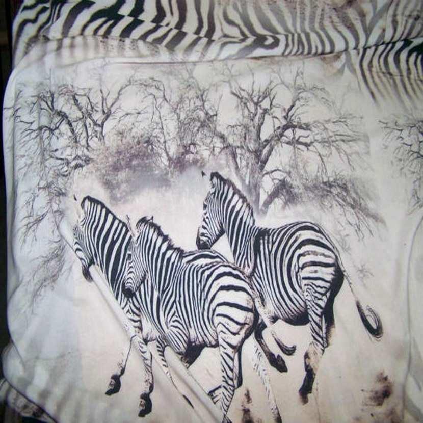Viscose imprime zebre2