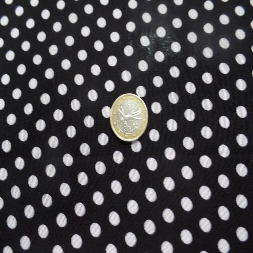 Viscose noire fine imprime imprime petit pois blanc4