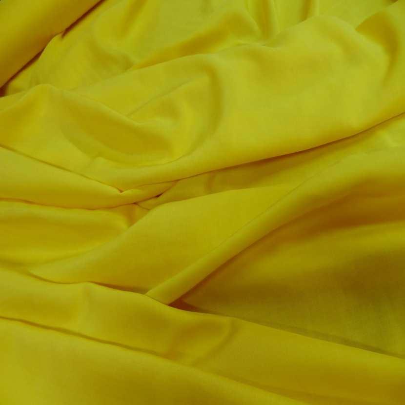 Viscose uni jaune