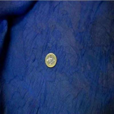 Voile bleu devore en polyester