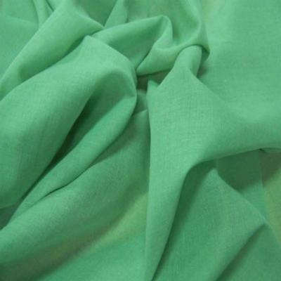 Voile coton fin vert
