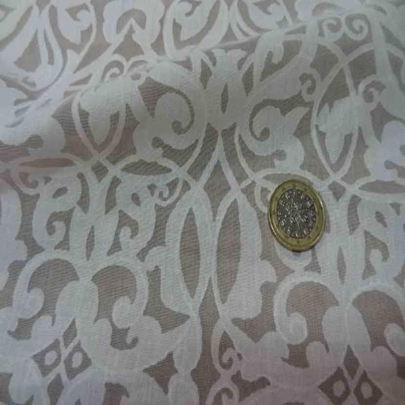 Voile coton polyester devore blanc6