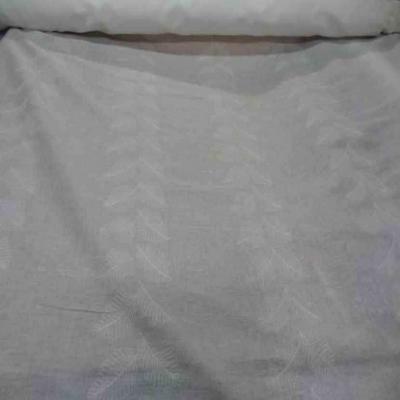 Voile de coton blanc brode en 1 80m de large