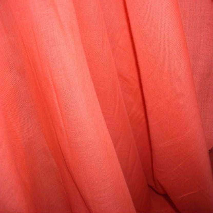 Voile de coton orange