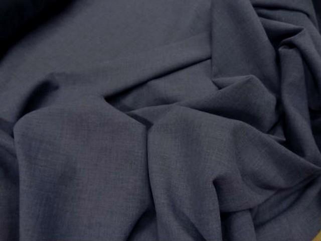 Voile de coton polyester gris bleu 2