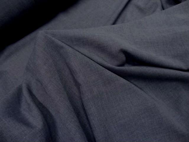 Voile de coton polyester gris bleu0