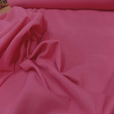Voile de coton rose en 2 90m de large