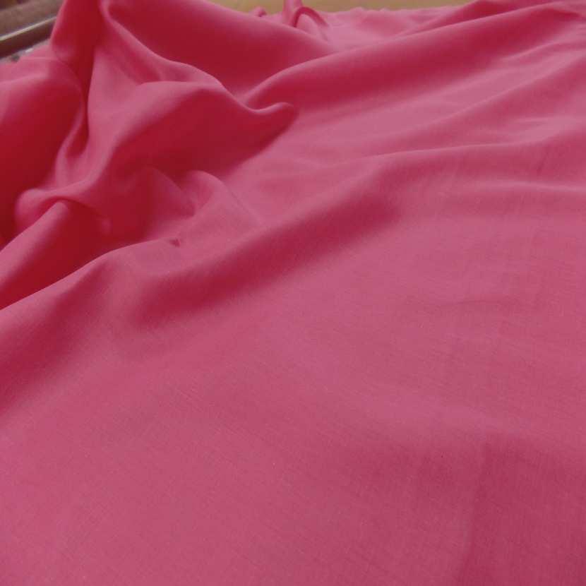 Voile de coton rose en 2 90m de large1 1