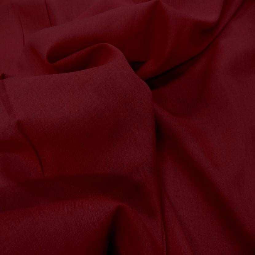 Voile de coton rouge bordeaux