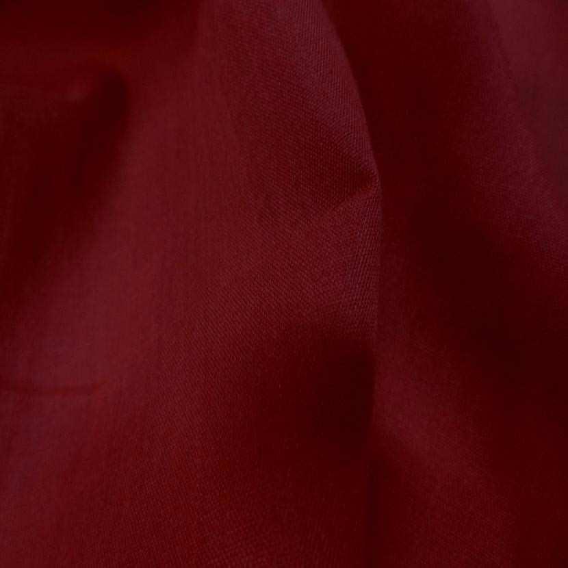 Voile de coton rouge bordeaux1