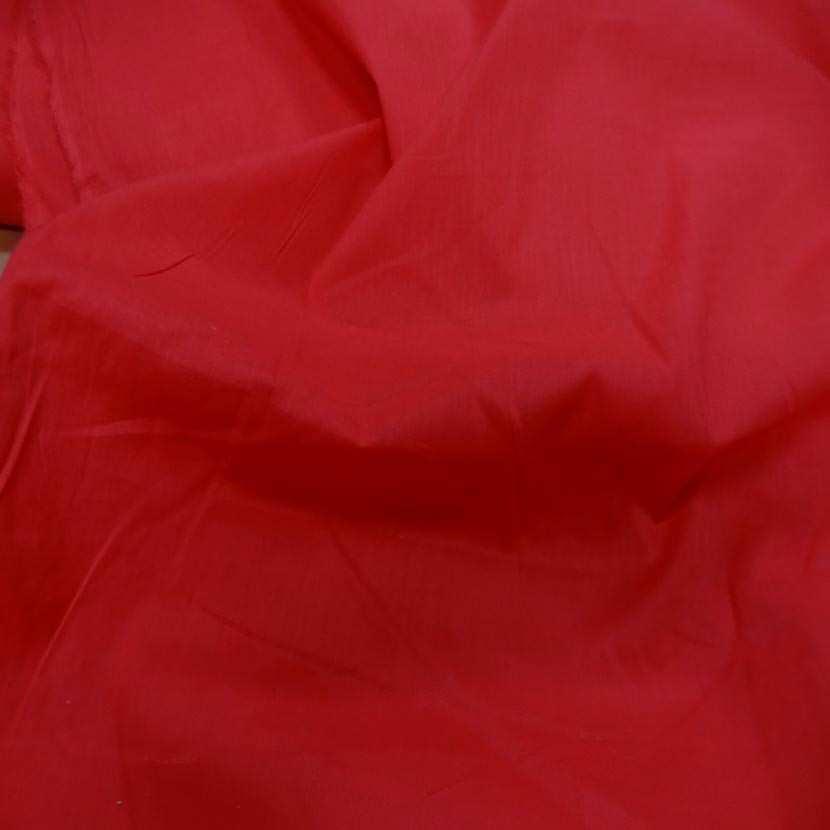 Voile de coton rouge00