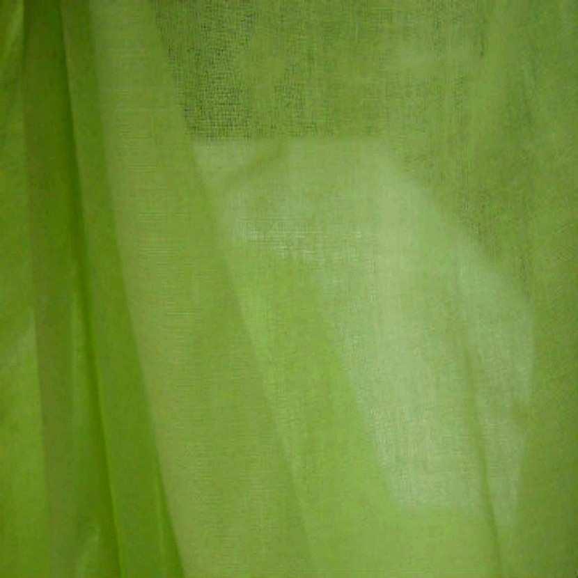 Voile de coton vert anis en 2 90m de large