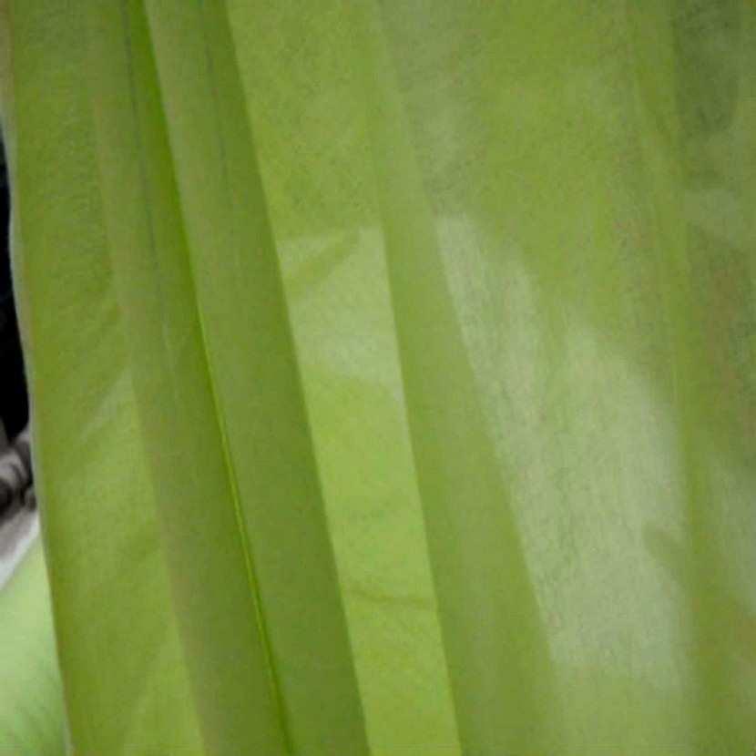 Voile de coton vert anis en 2 90m de large1