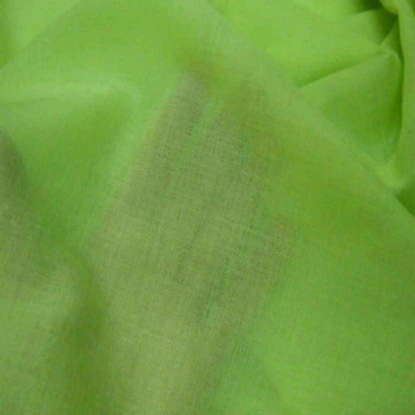 Voile de coton vert anis en 2 90m de large2