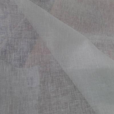 Voile de lin 100 blanc casse 90gr m en 1 65m de large