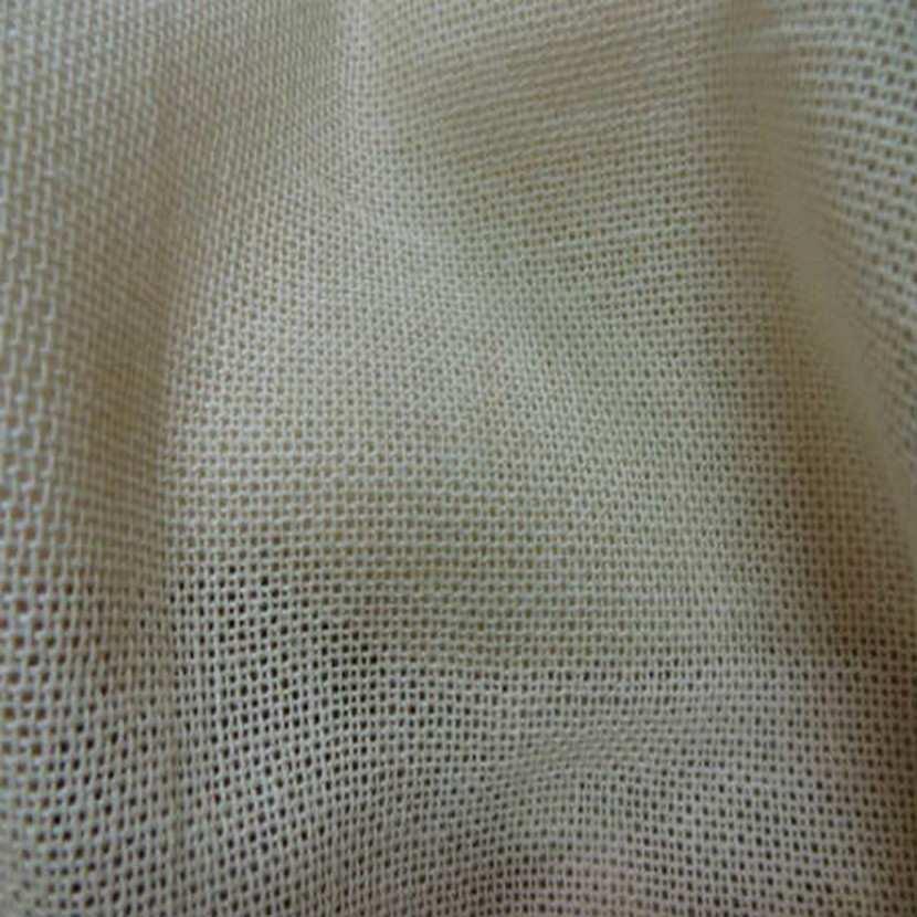 Voile de lin coton ecru