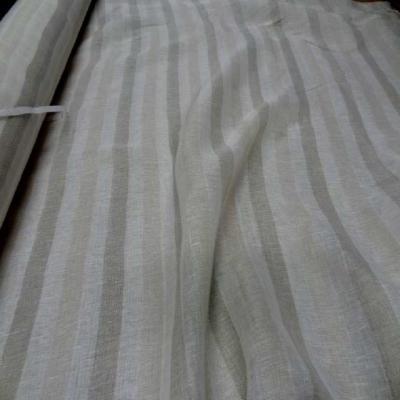 Voile de lin naturel a bandes en 3 30mde large2