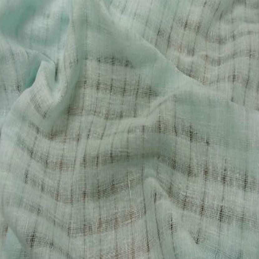 Voile de lin vert d eau faconne