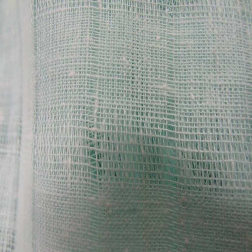 Voile de lin vert d eau faconne2