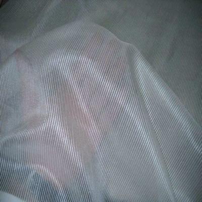 Voile de soie ecrue a rayures en 1 50m de l