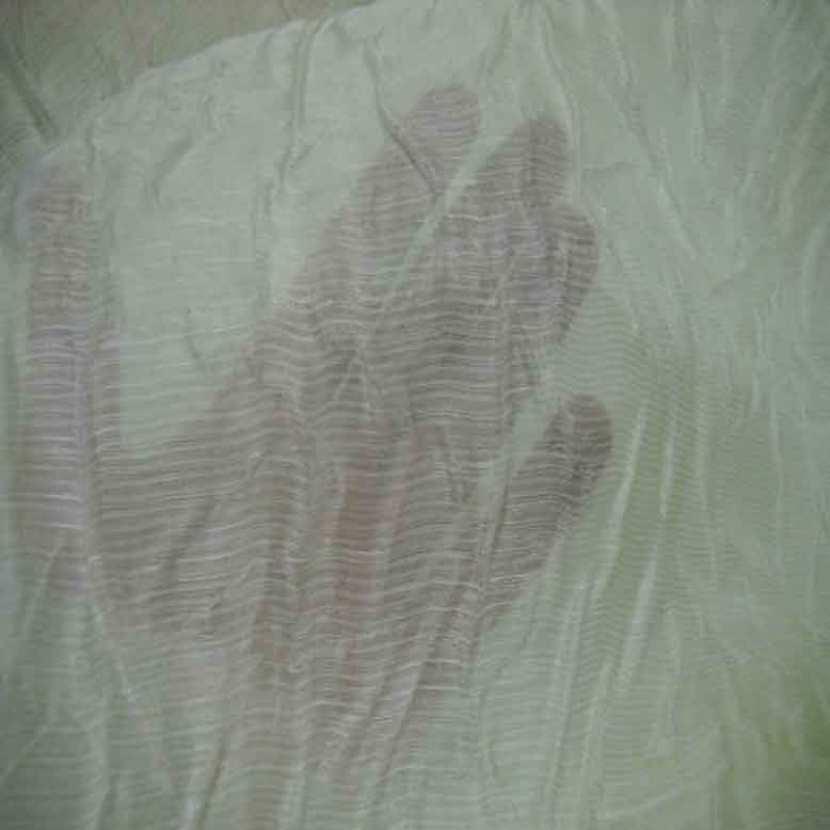 Voile de soie froisse permanent blanc casse7