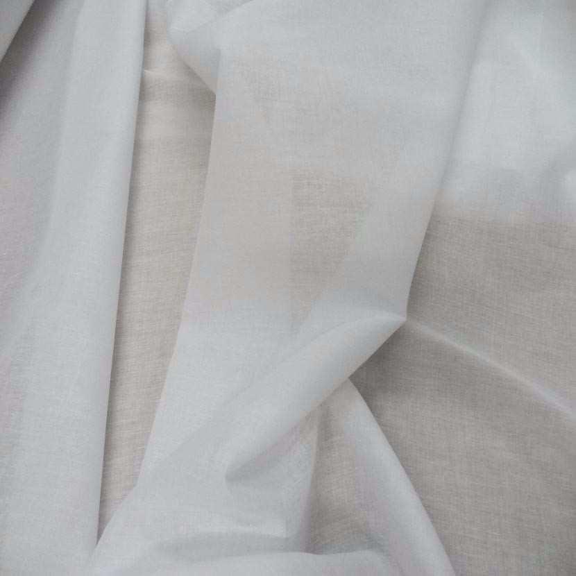 Voile en coton blanc