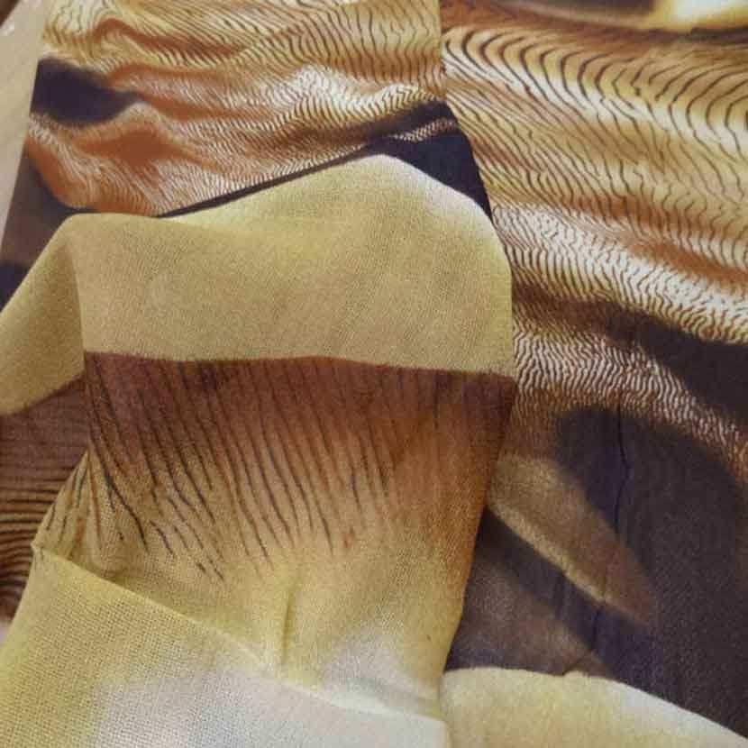 Voile polyester imprime savane4
