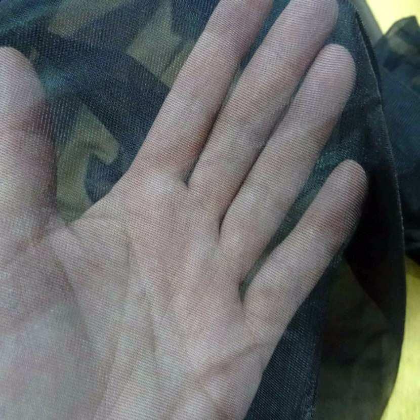 Voile polyester noir transparent7
