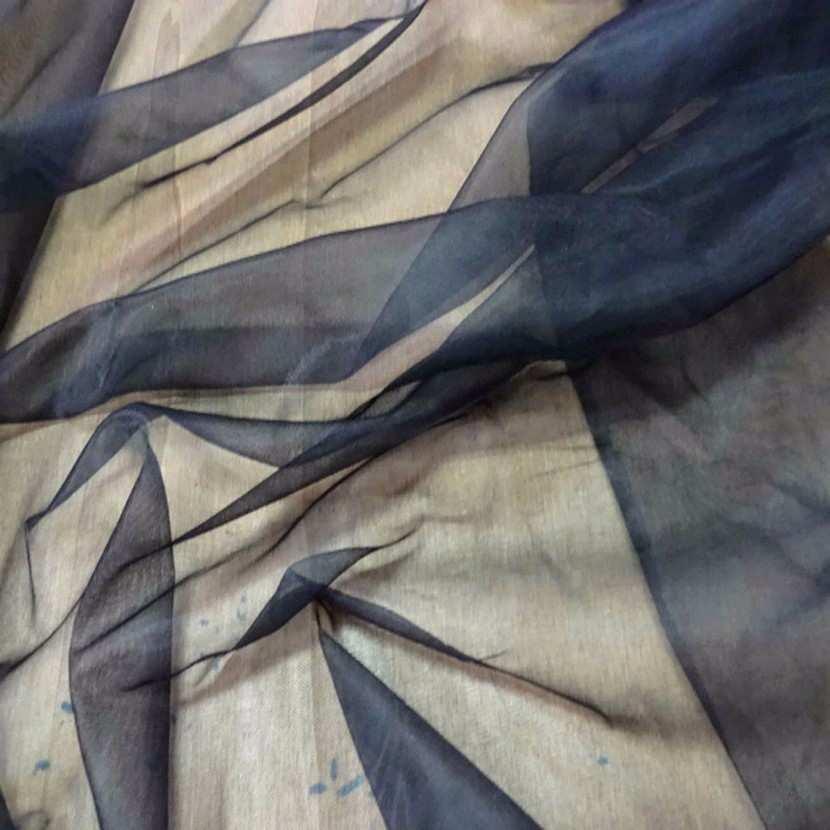 Voile polyester noir transparent8