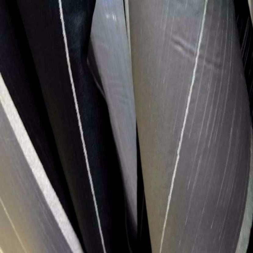 Voile taffetas gris noir legerement transparent en 3 m de largeur 9